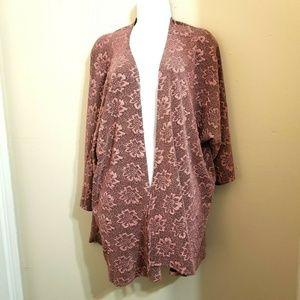 Lularoe Lindsay Kimono Coverup Size L Q10E